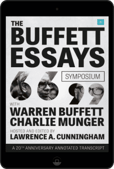 Cover of The Buffett Essays Symposium by Lawrence A. Cunningham