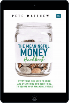 Cover of The Meaningful Money Handbook by Pete Matthew