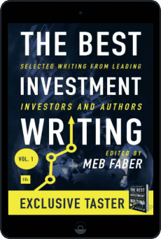 Cover of The Best Investment Writing Sampler by Meb Faber