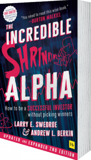 Cover of The Incredible Shrinking Alpha 2nd edition by Larry E. Swedroe and Andrew L.  Berkin
