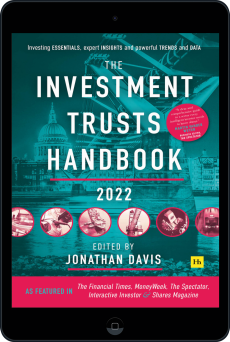 Cover of The Investment Trusts Handbook 2022 by Jonathan Davis