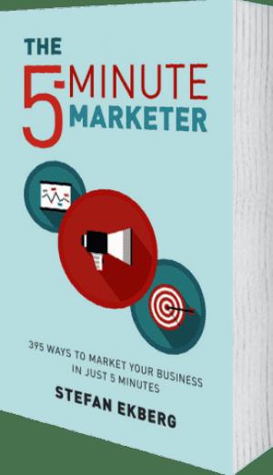 Cover of The 5-Minute Marketer by Stefan Ekberg